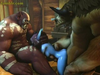 Monsters fuck girl in cool 3d hentai sex game (cartoon) game, sex games