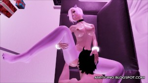 Emo Kitty Gets Her Feet Used And Cummed On In 3D Adult Dating Game